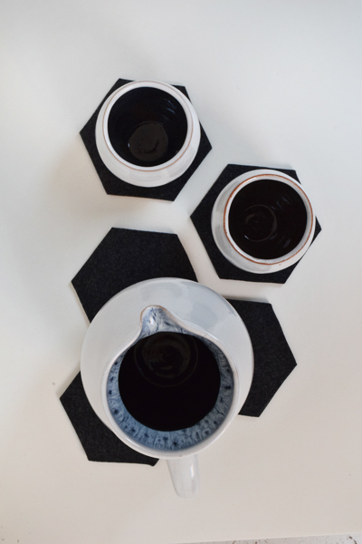 DIY Hexagon Felt Coasters | Chapters By S.