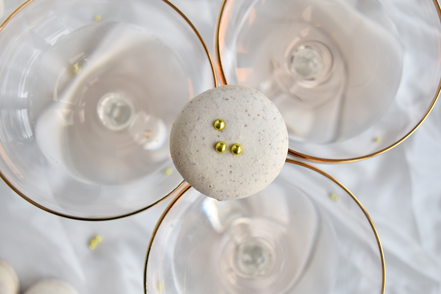 Champagne Macarons With Golden Pearls | Chapters by S.